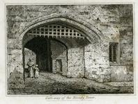 Thumbnail image of Print 'Gate-way of the Bloody Tower', dated 1830.