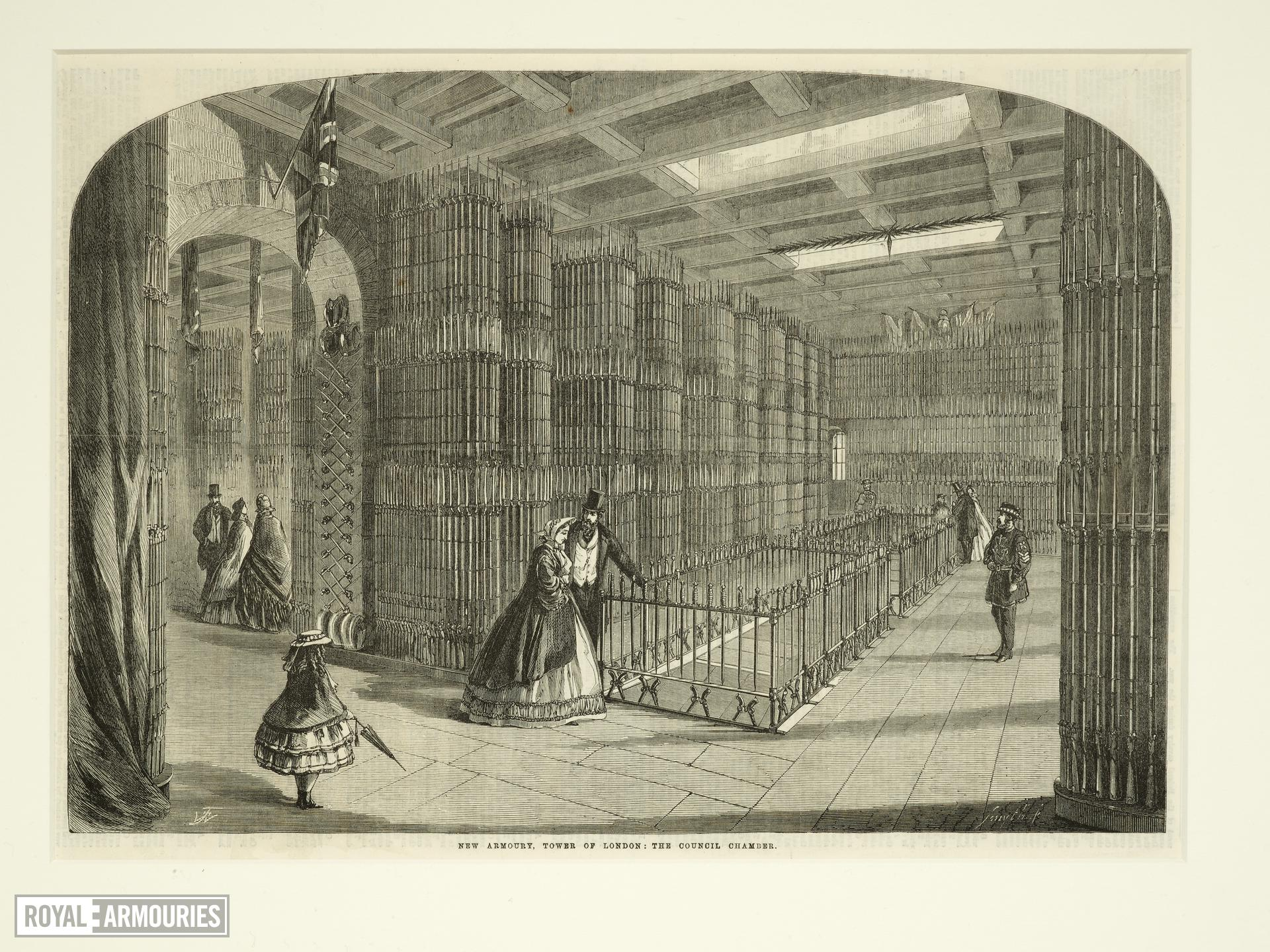 Print 'New Armoury, Tower of London: the Council Chamber', 1863