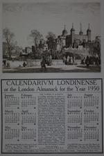 Thumbnail image of Print 'Calendarium Londinense, or the London Almanack for the Year 1950'