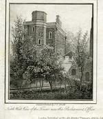 Thumbnail image of Print Engraving, entitled:  'North west view of the Tower, now the Parliament Office', dated 1805.