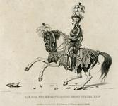 Thumbnail image of Print Engraving entitled: 'The Hon. the King's Champion, Henry Dymoke, Esq.', dated 1821.