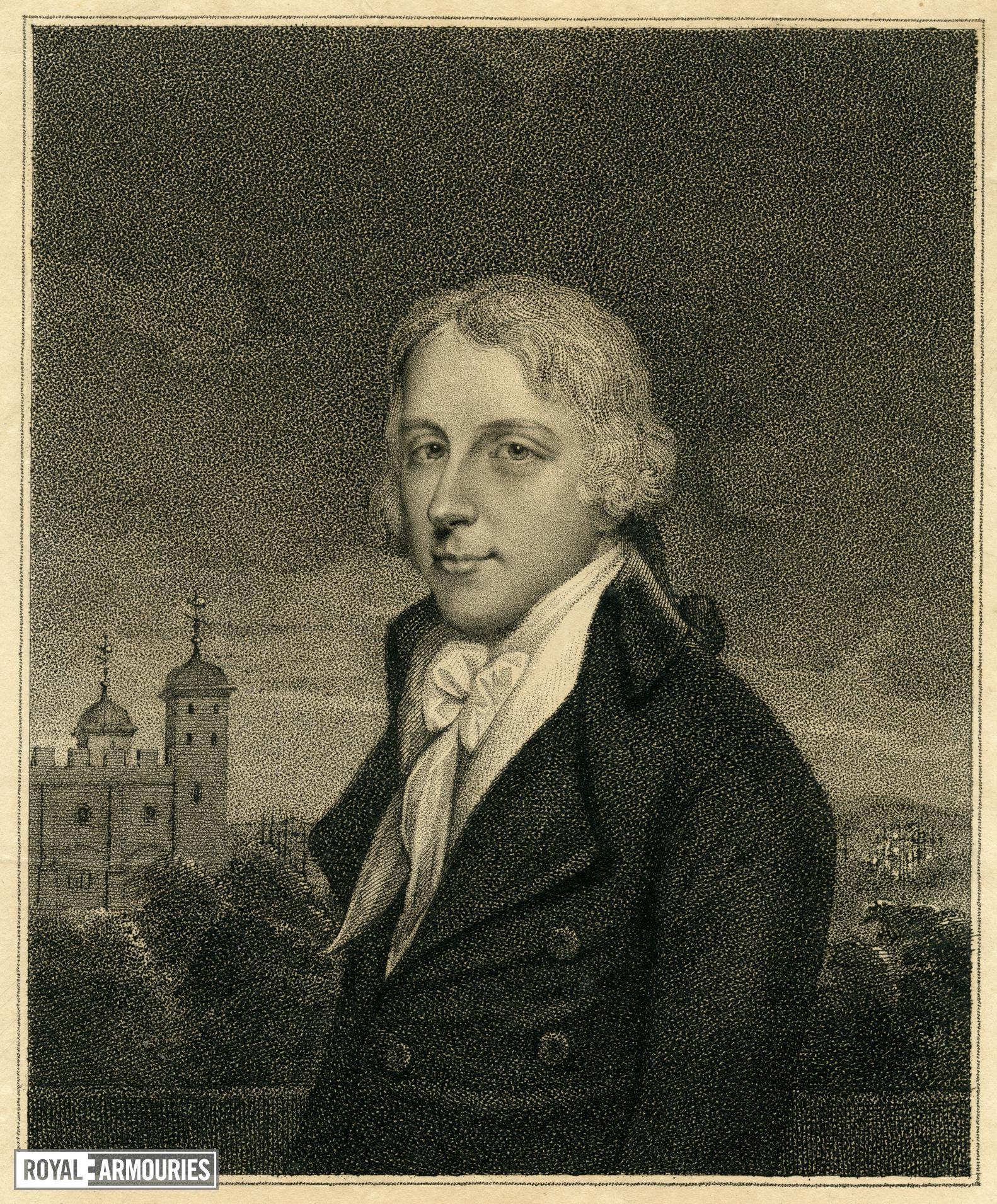 Print Untitled portrait, with the White Tower behind.