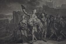 Thumbnail image of Print Mezzotint:  'Plundering the Tower', [dated 14 August, 1777]