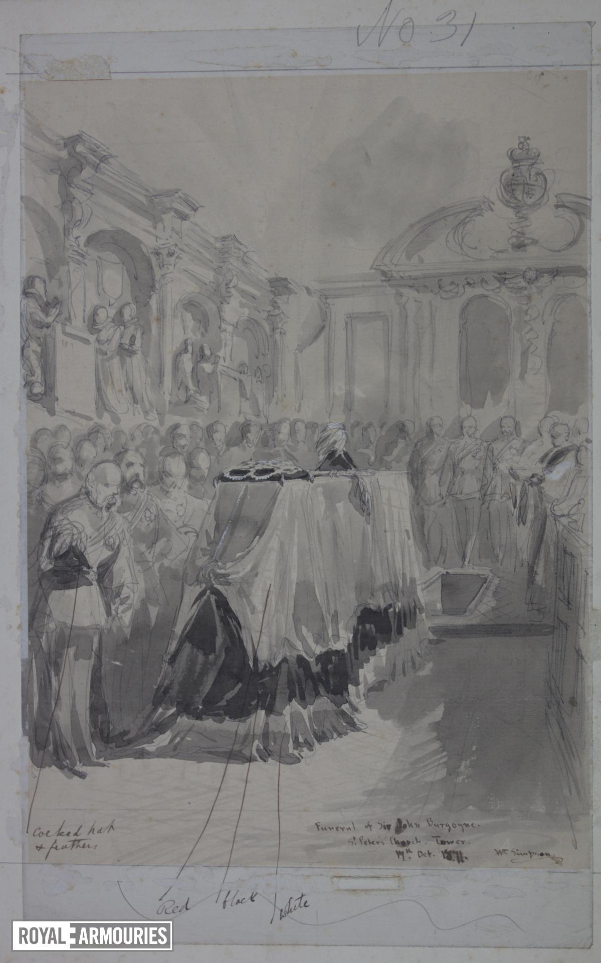 Funeral of Sir John Burgoyne