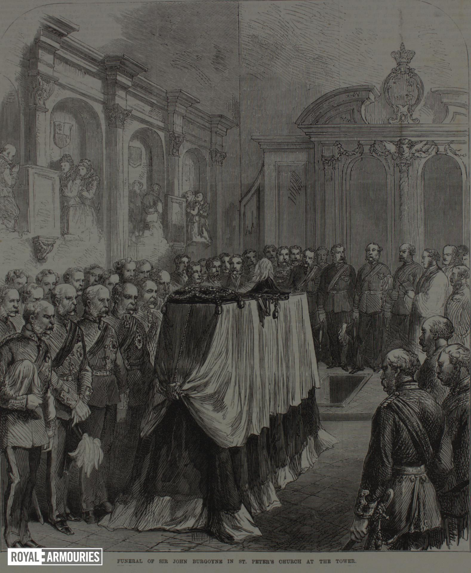 Illustrated London News - Funeral of Sir John Burgoyne