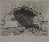 Thumbnail image of Print engraving, entitled, 'Arch of Old London-Bridge called Long-Entry-Lock ', with a view of the White Tower, Tower of London, seen through the arch.