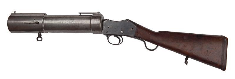 Centrefire grenade discharger