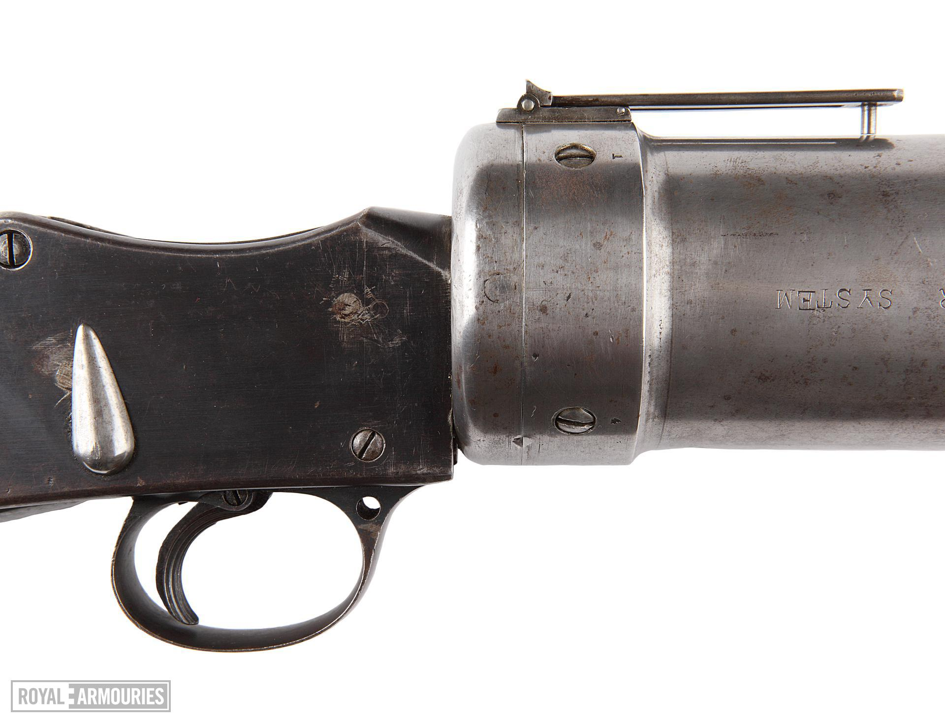 Experimental grenade discharger, •Blanch-Chevallierê with Martini-Henry action, British, 1916
