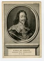 Thumbnail image of Print Engraved Portrait of Charles I, 1600-1649.