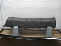 Thumbnail image of 36 pr gun fragment - Cannon-Perier type Muzzle portion of gun Made of brass