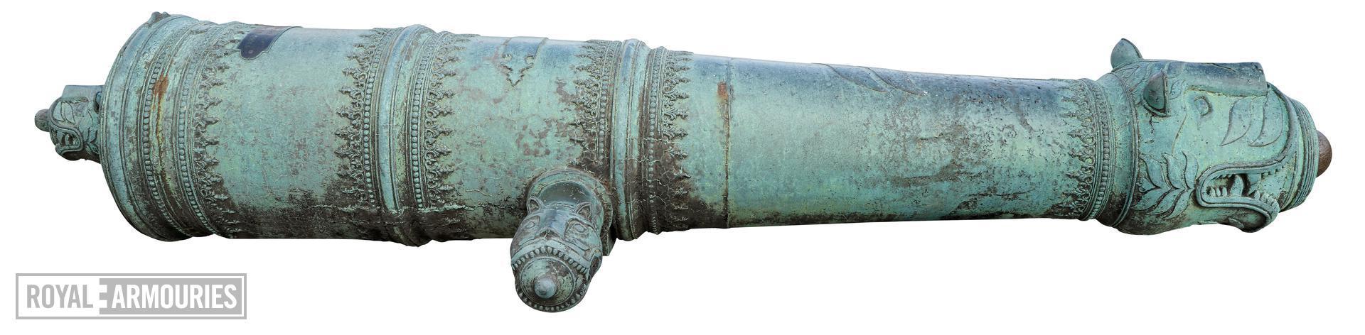 24 pr gun Made of bronze