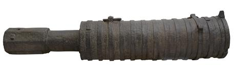 Thumbnail image of 13 inch Bombard, 'The Boxted Bombard,' possibly English, about 1450, made of iron (XIX.314)