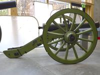 Thumbnail image of 4 pr gun and carriage - Gribeauval System Made of bronze Cast by Maritz Carriage is a replica                    _