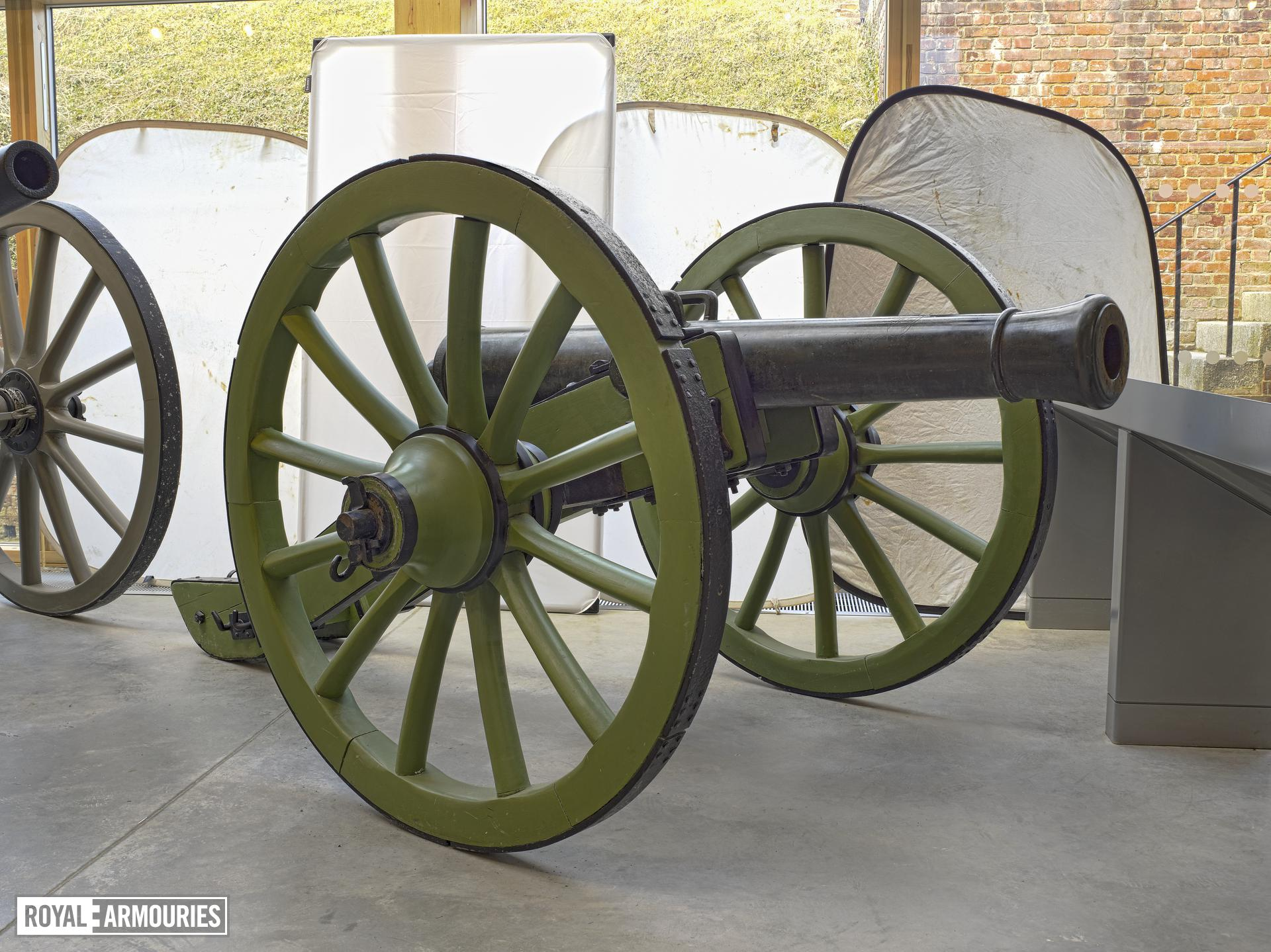 4 pr gun and carriage - Gribeauval System