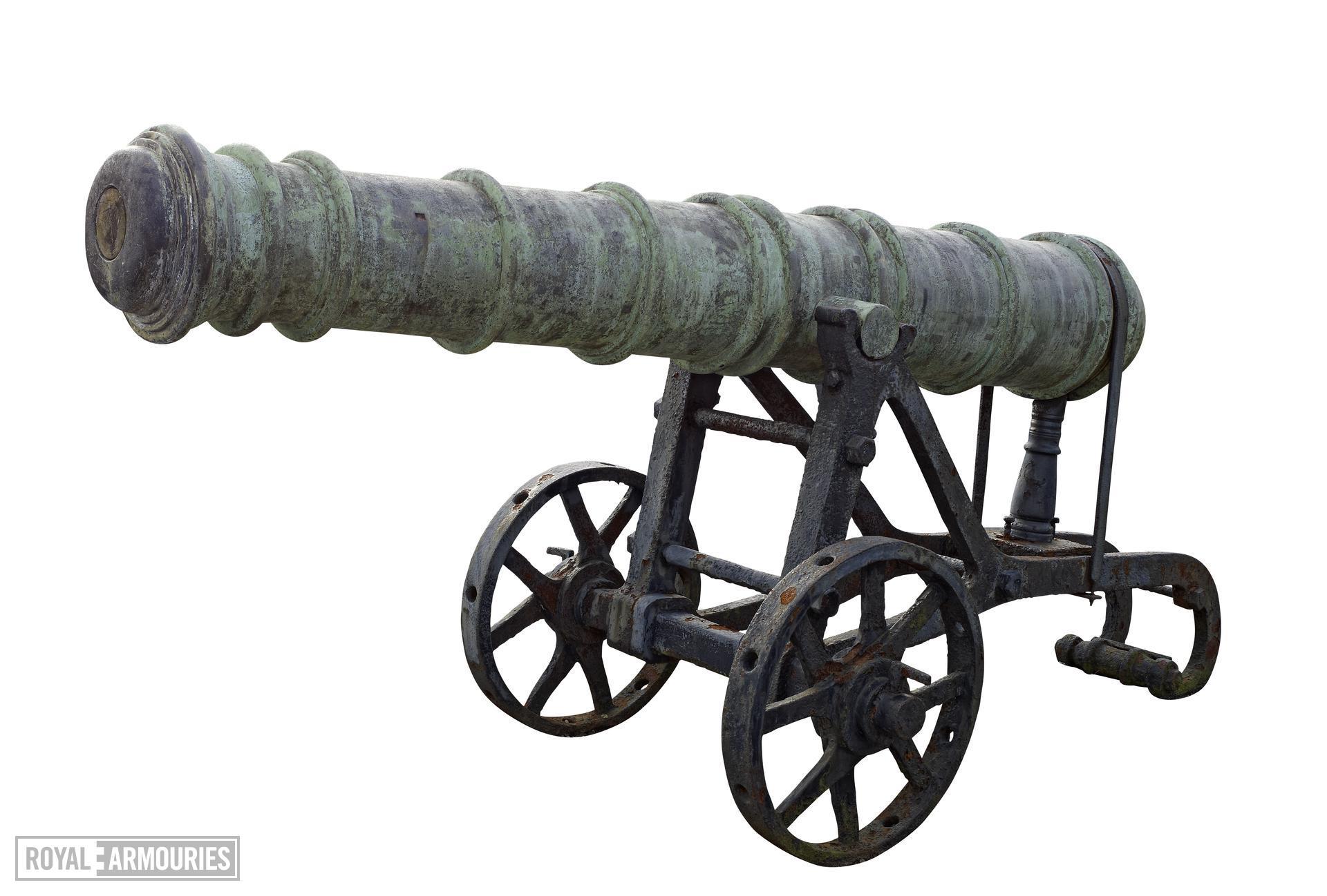 18 pr gun and garrison carriage Made of bronze