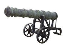 Thumbnail image of 18 pr gun and garrison carriage Made of bronze