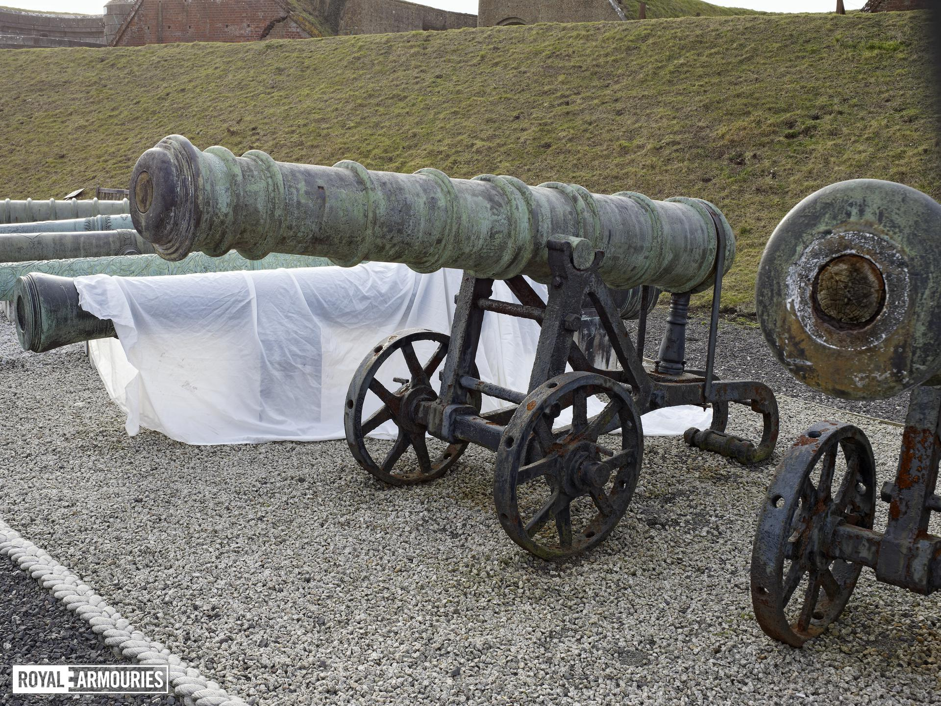 18 pr gun and garrison carriage