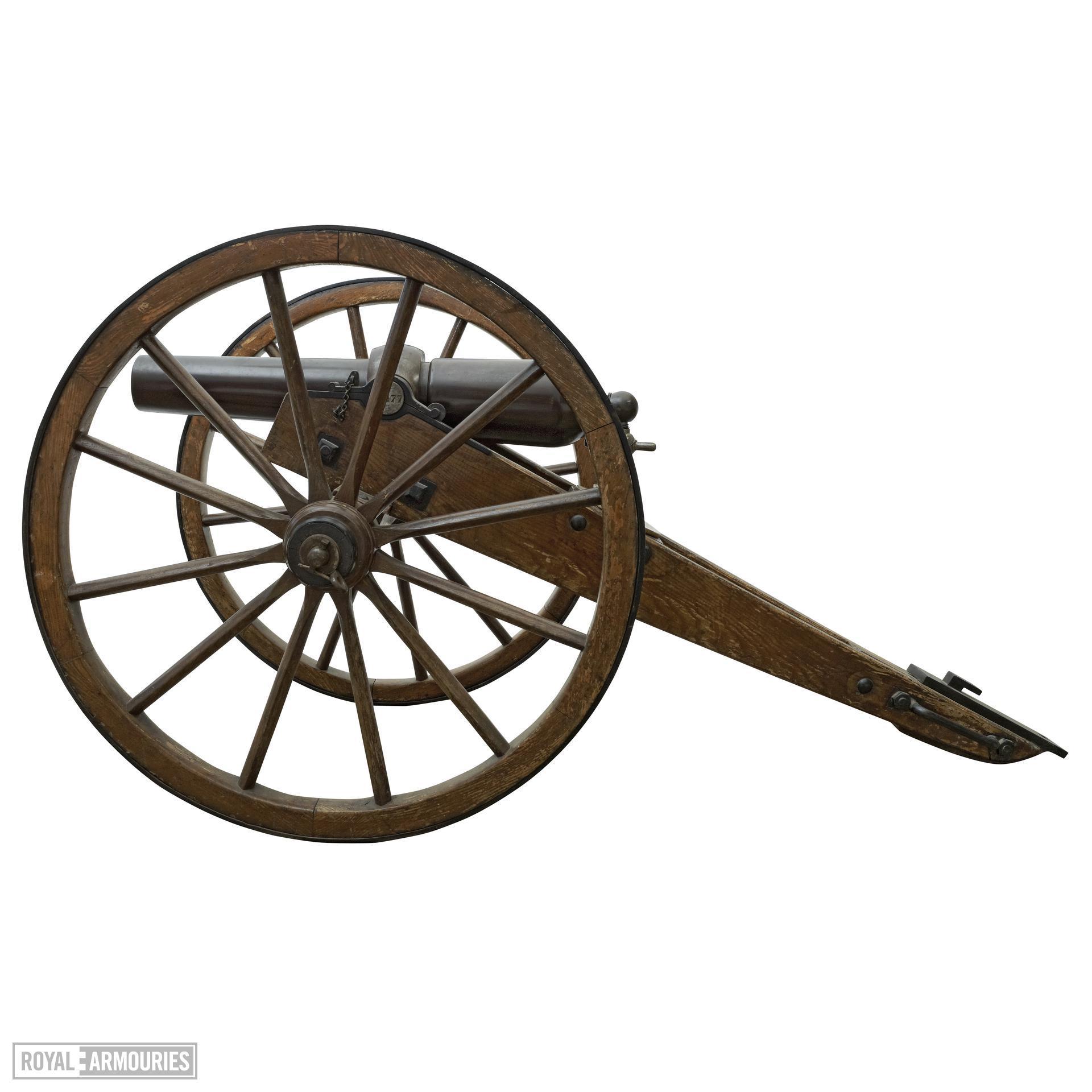 7 pr mountain gun and carriage - 7 pr Blakely RML Mountain Gun