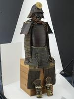 Thumbnail image of Armour (tosei gusoku) with tested helmet and do with sliding rivets.