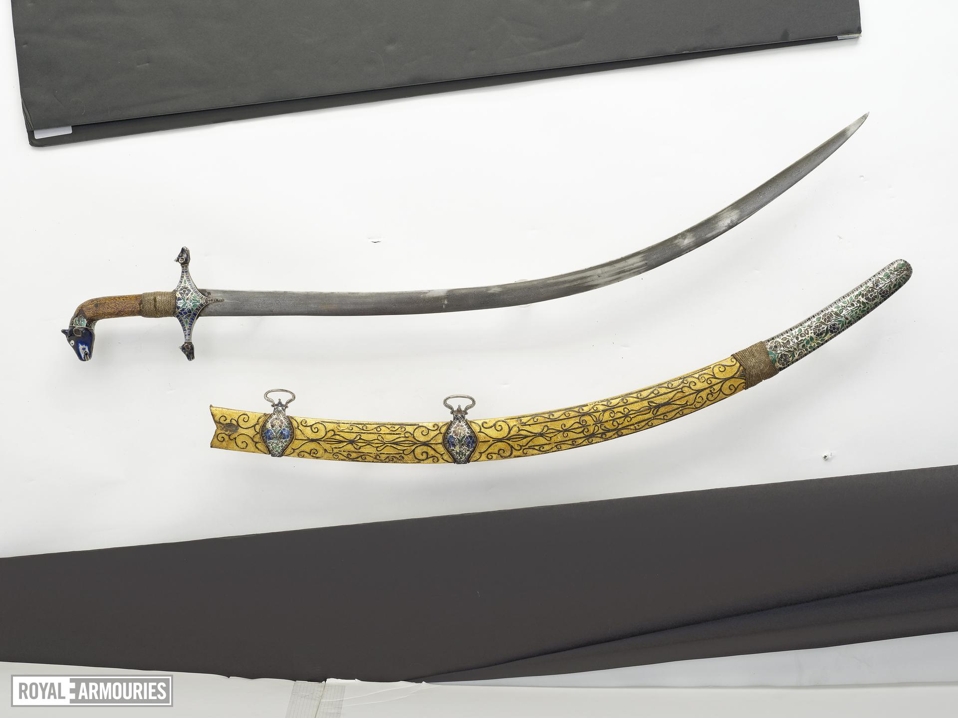 Sword (talwar) and scabbard