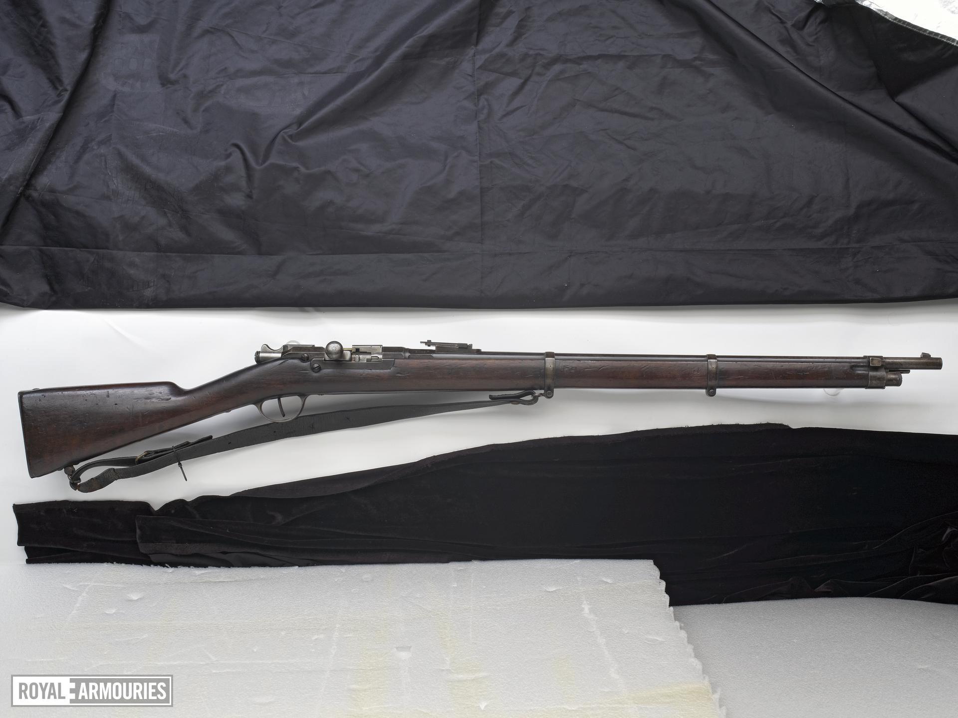 Centrefire bolt-action rifle - Kropatschek Model 1878