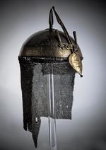 Thumbnail image of Helmet (top) with inscription on nasal.