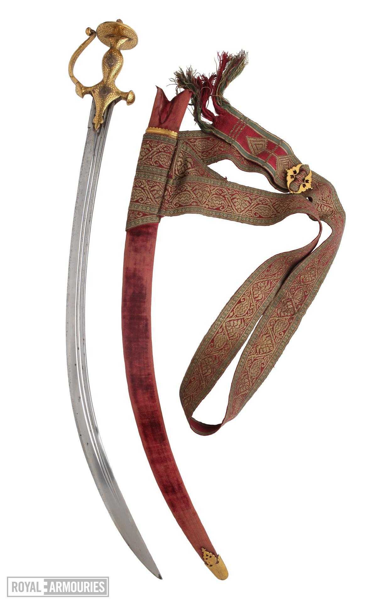 Sword (talwar), scabbard and belt