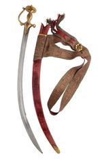 Thumbnail image of Sword (talwar), scabbard and belt