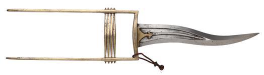 Thumbnail image of Dagger (katar) and scabbard