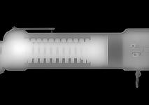 Thumbnail image of X-ray of the launcher's tube, showing the large recoil dampening spring.