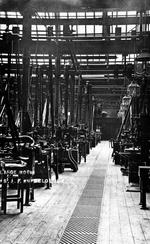 Thumbnail image of Photograph showing 'the large room' at the Royal Small Arms Factory, Enfield Lock, Britain, early 20th century
