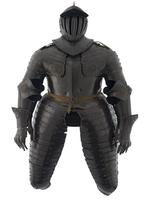 Thumbnail image of Cuirassier's field armour Consists of close helmet, breastplate, backplate, culet, tassets, pauldrons, vambrace and gauntlets.