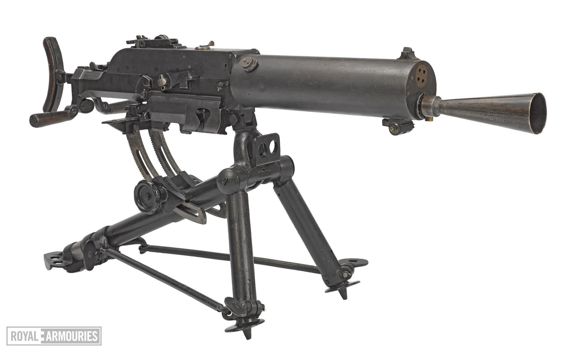 Schwarzlose Model 7/12 centrefire automatic belf fed machine gun, Austria, about 1914
