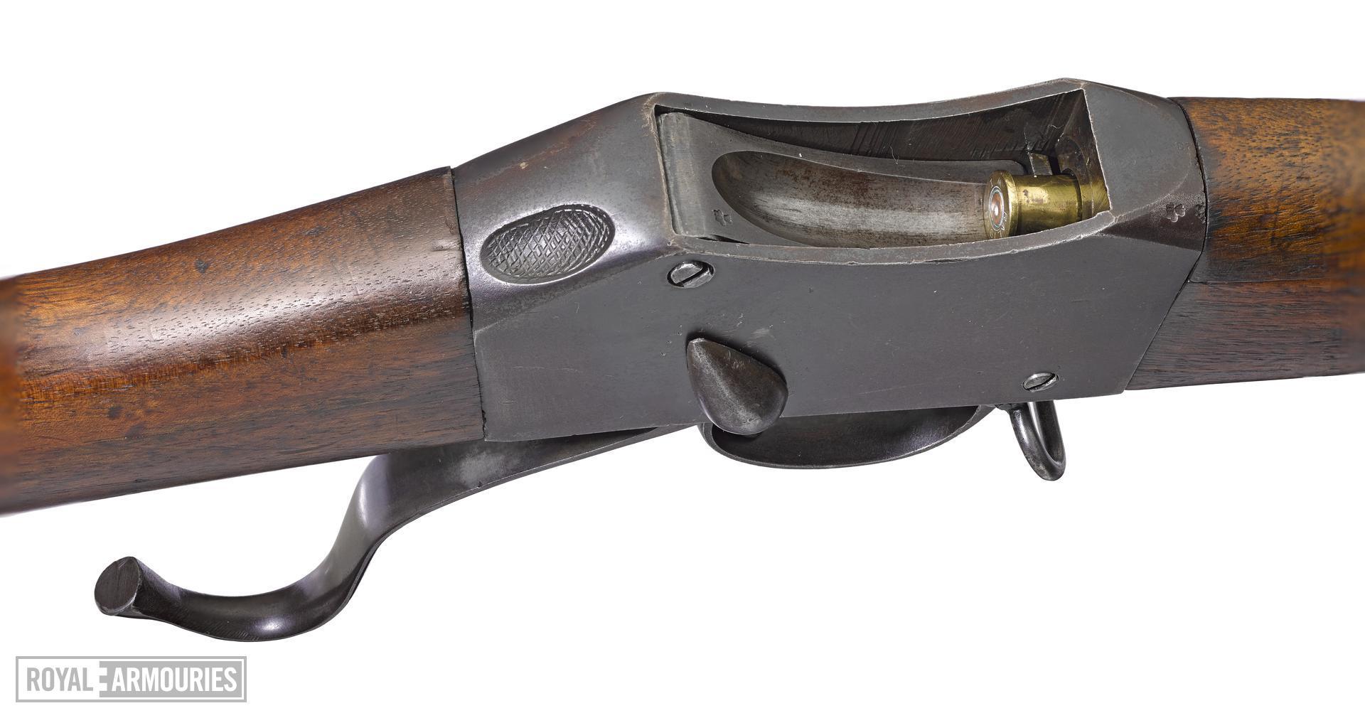 Martini-Enfield VTC Model centrefire breech loading rifle, Birmingham, Britain, about 1914, by W.M Ford Birmingham