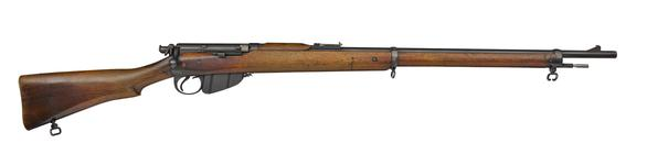 Thumbnail image of Lee Enfield Mk 1 centrefire bolt action rifle, Britain, 1895, serial number 1, sealed pattern