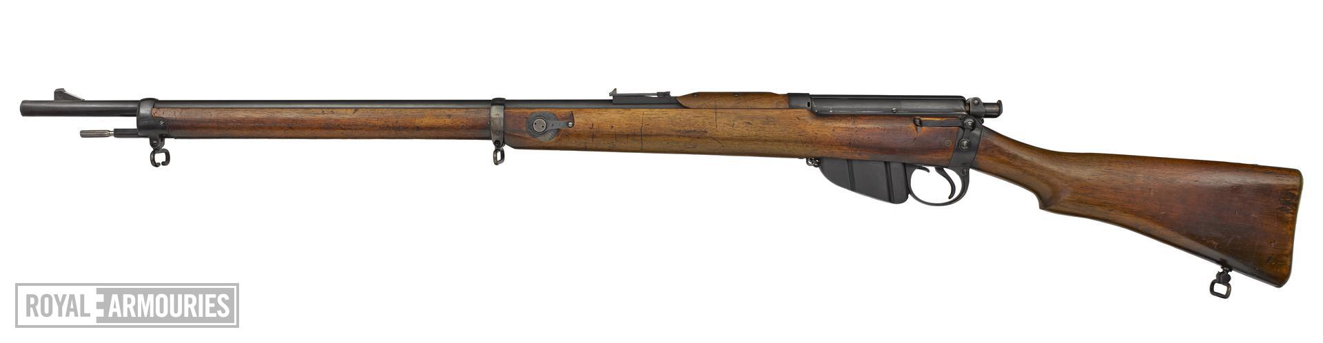 Lee Enfield Mk 1 centrefire bolt action rifle, Britain, 1895, serial number 1, sealed pattern