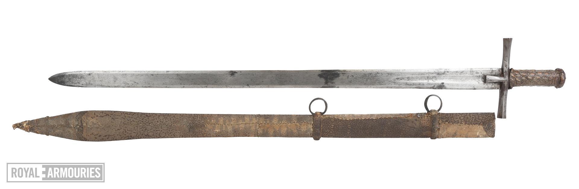 Sword (kaskara) and scabbard - Kaskara