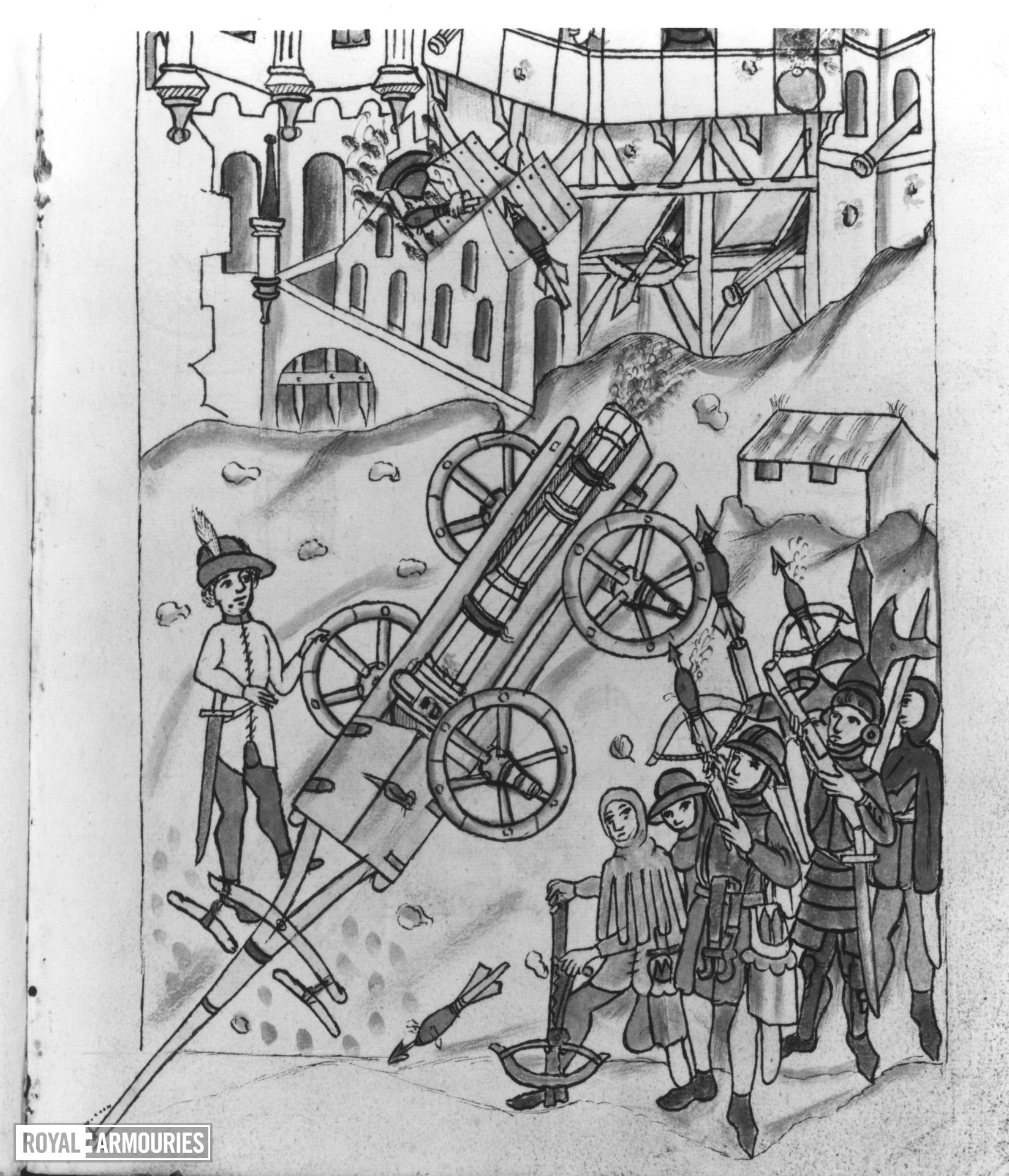 Manuscript, Firework book showing the manufacture and use of gunpowder