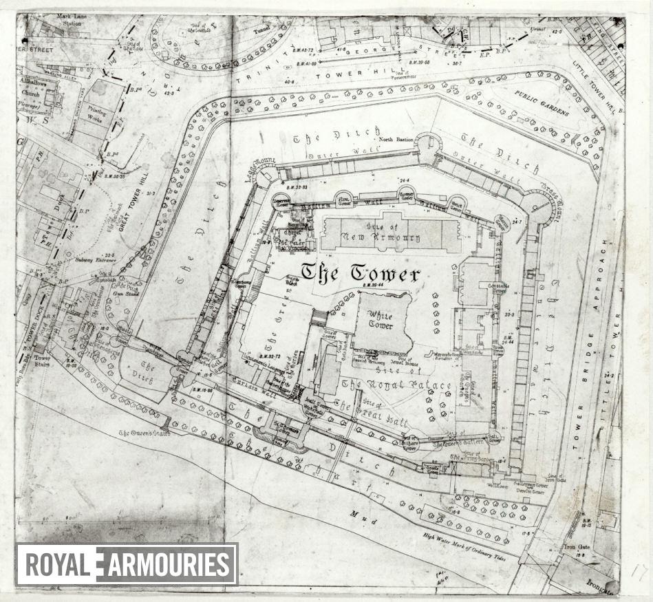 Plan of Tower of London and Tower Hill