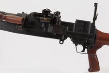Thumbnail image of Experimental sustained fire machine gun prototype on bi pod mount, Turpin gun  X11 E2 (PR.7196)