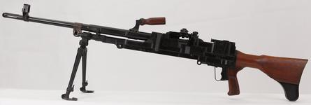 Thumbnail image of Experimental sustained fire machine gun prototype on bi pod mount, Turpin gun  X11 E4 (PR.7197)