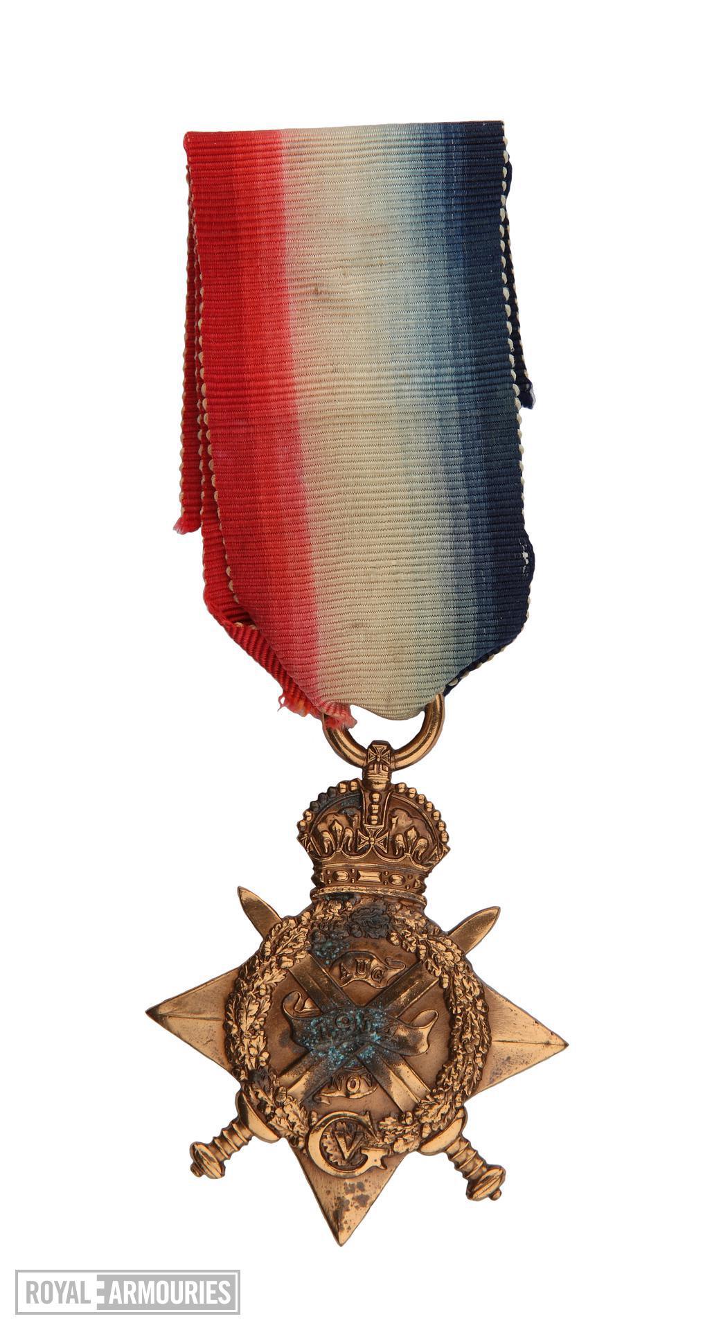 1914 Star (obverse) issued to  Lance Sergeant Thomas Queenan, 1st West Yorkshie Regiment.  (XVIII.461)