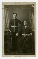 Thumbnail image of Photograph of Lance Sergeant Thomas Queenan and colleague in dress uniform, 1st West Yorkshire regiment. (XVIII.461)