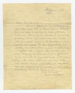 Thumbnail image of Letter of condolance to the widow of Lance Sergeant Thomas Queenan, 1st West Yorkshire Regiment, written by one of his colleagues. (XVIII.461)