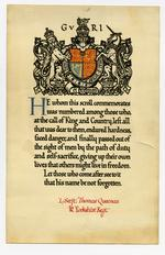 Thumbnail image of Memorial Scroll to Lance Sergeant Thomas Queenan, 1st West Yorkshire Regiment. (XVIII.461)