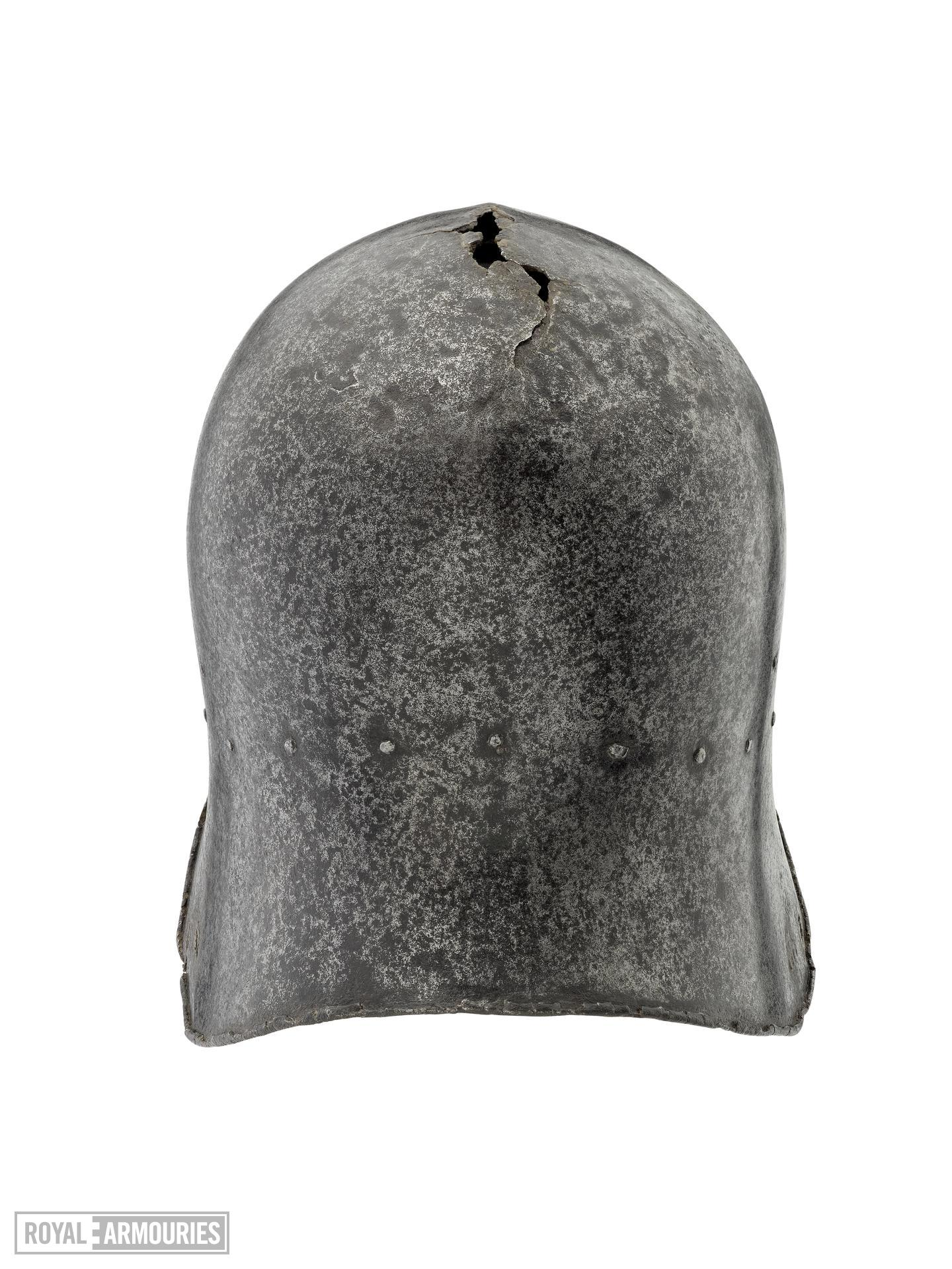 Sallet or kettle hat, probably produced for export to Western Europe. Italian, possibly Milan, about 1450 (IV.4)