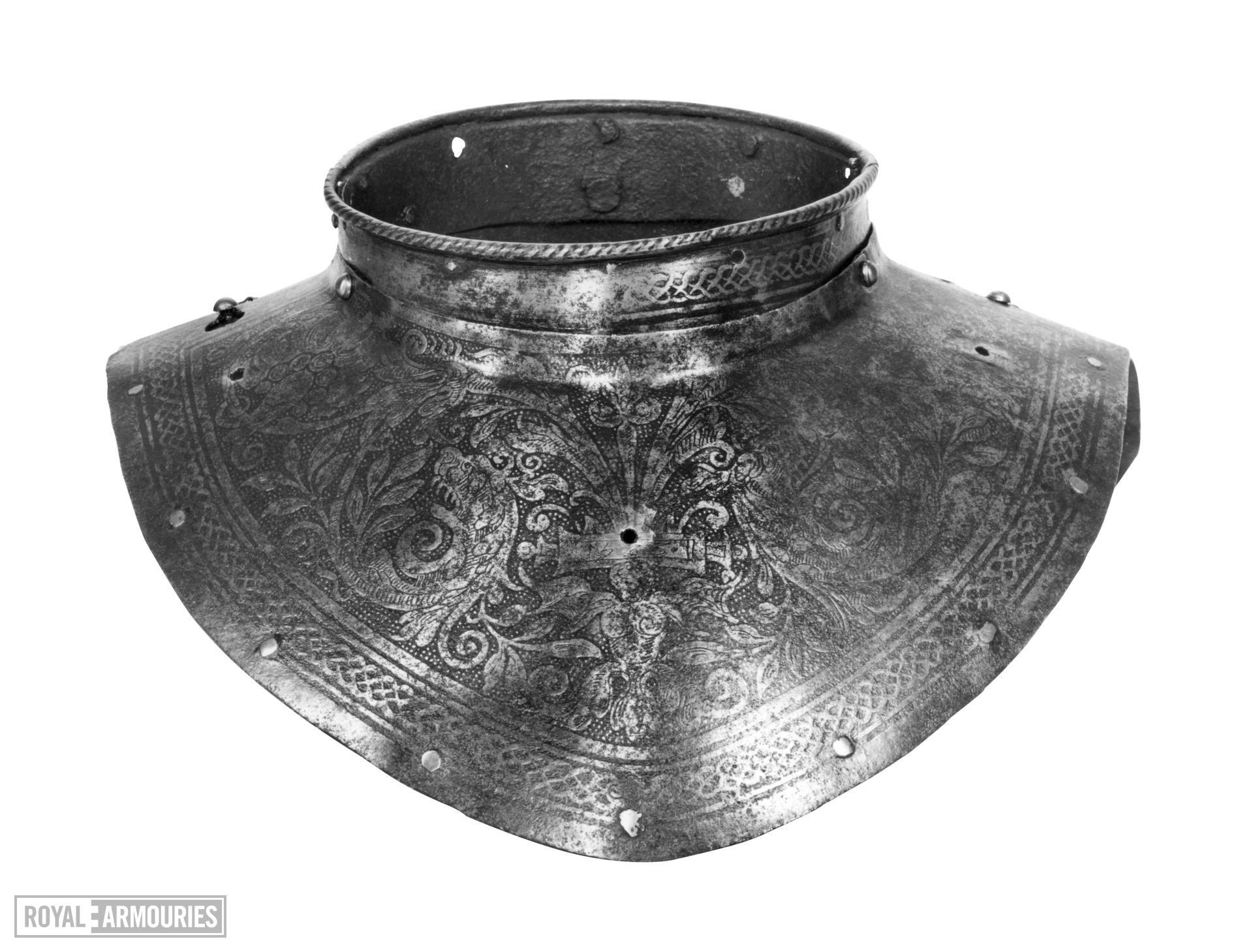 Gorget. Flemish, dated 1583. Made by Adrian Collaert (III.1692)