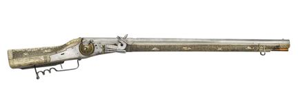 Thumbnail image of Wheellock rifle made by V.S., German, probably Saxon, about 1590 (XII.1197)
