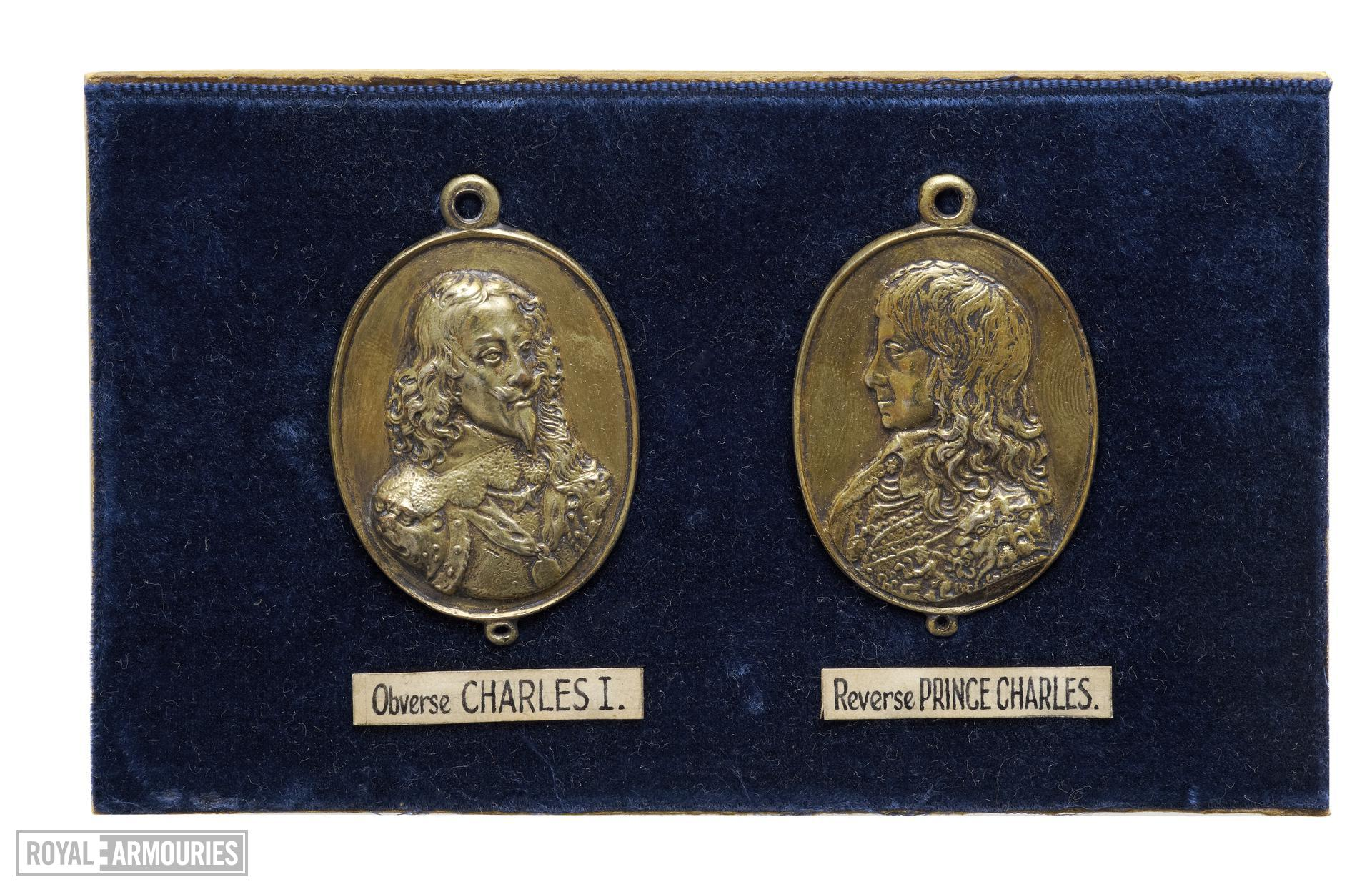 Facsimile of a pair of 'Forlorn Hope' medals, showing Charles I wearing the Lion Armour (XVIII.564)