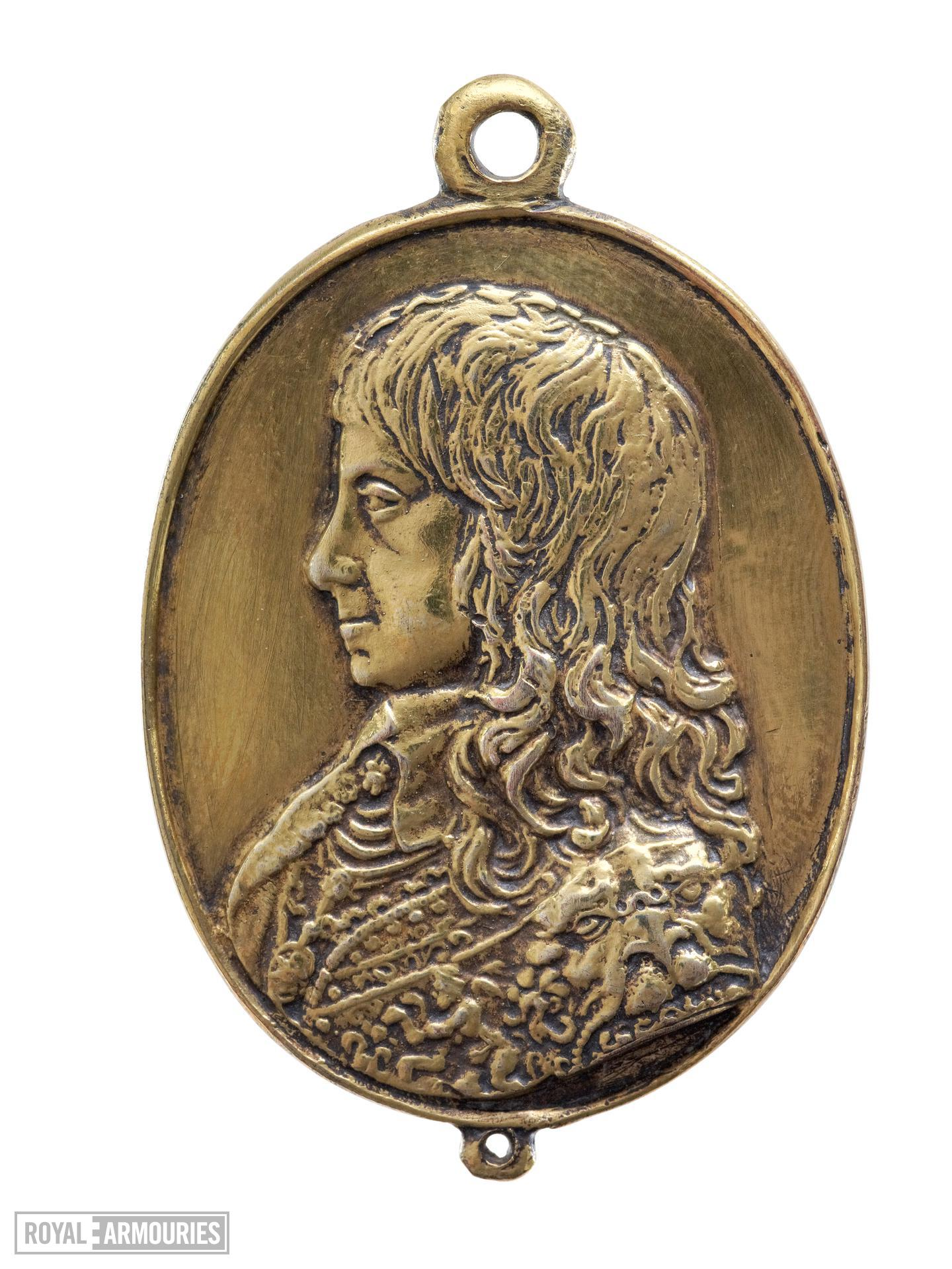 Facsimile of one of a pair of 'Forlorn Hope' medals, showing Charles I wearing the Lion Armour (XVIII.564)